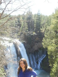 Me without a lot of makeup! This was taken a couple years ago at Burney Falls.